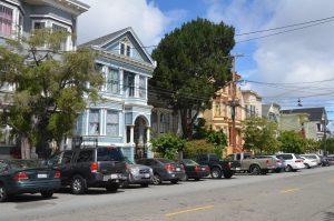 Die für San Francisco so typischen Wohnhäuser (1)