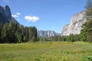 Im Yosemite Valley, Blickrichtung zum Talausgang