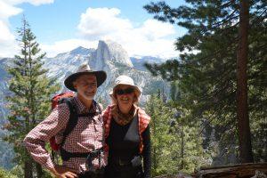Auf dem Four Mile Trail. Im Hintergrund Half Dome