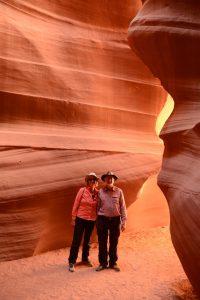 Im Eingangsbereich des Upper Antelope Canyon