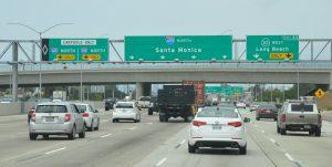 Auf der Interstate 405 im Großraum Los Angeles