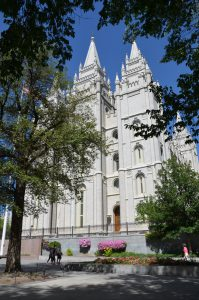 Der Mormonen-Tempel in Salt Lake City