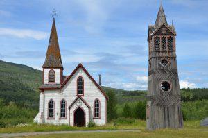 St. Pauls Anglican Church mit Glockenturm von 1893 in Gitwangak