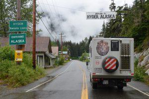 Ankunft in Hyder, Alaska