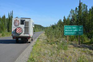 Kurz vor Erreichen des Alaska Highways bei Watson Lake