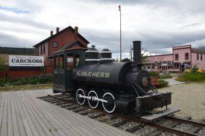 Lokomotive der White Pass & Yukon Route in Carcross