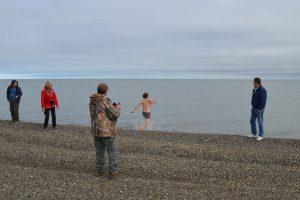 Badevergnügen am Arktischen Ozean