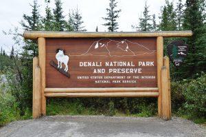 Eingangsschild zum Denali National Park