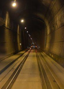 Im Eisenbahntunnel nach Whittier