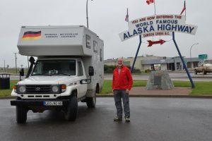 Anfang bzw. Ende des Alaska Highways in Dawson Creek