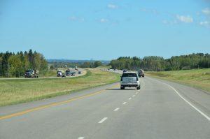 Auf dem Yellowhead Highway kurz vor Edmonton