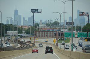 Unsere Route führt mitten durch Chicago.