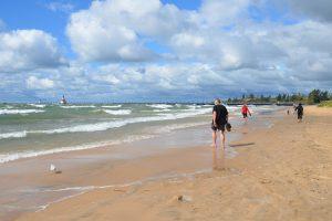Am Strand von St. Joseph