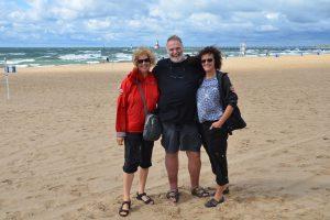Mit Uwe und Angelika am Ufer des Lake Michigan