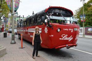 Amphibien-Fahrzeug mit Namen Lady Dive