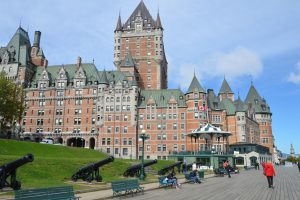 Das Wahrzeichen von Québec, das Hotel Château Frontenac