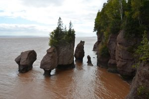 Hochwasser an den Hopewell Rocks