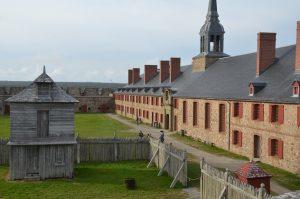 Die Garnison von Fort Louisbourg