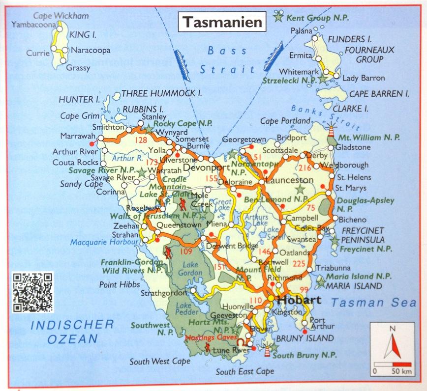 tasmanien wetter